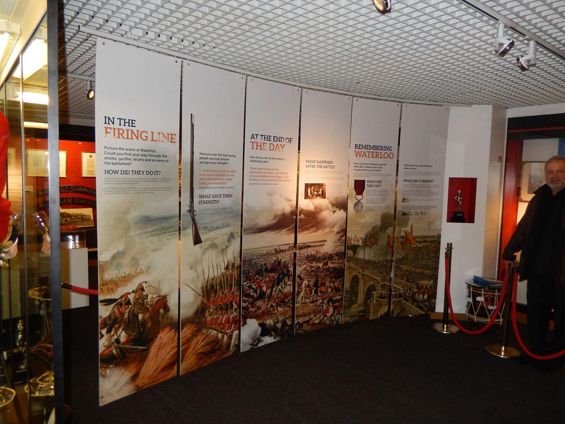 Engaging information and visuals telling the story of the Battle of Waterloo
