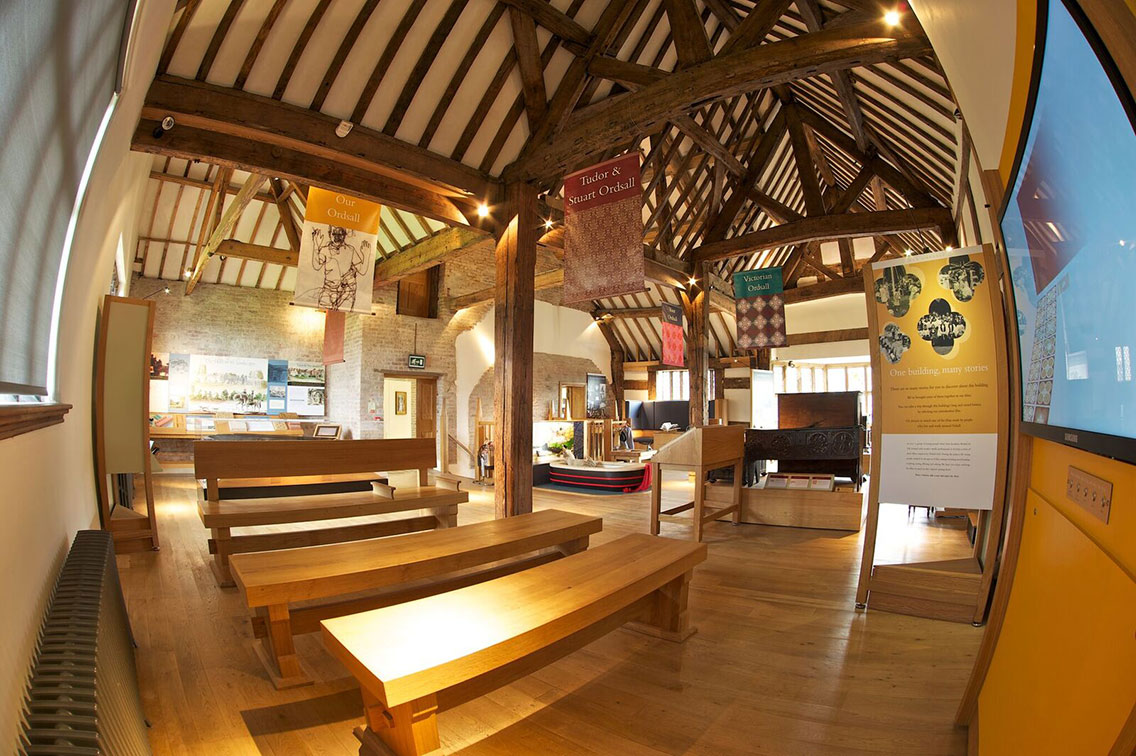 The engaging exhibition space at Ordsall Hall